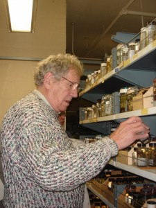 Photo of Dr. Folkerts at the museum